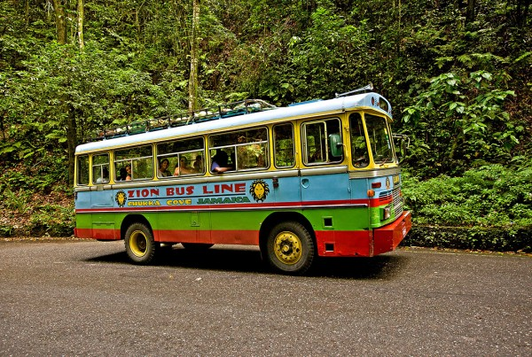 Zion bus to Nine Mile in Jamaica