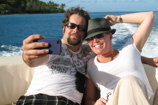 Chad and Cheryl in Bora Bora