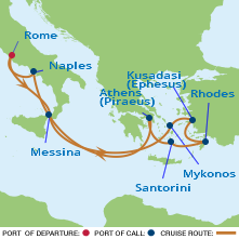 Celebrity Italy and Greece itinerary
