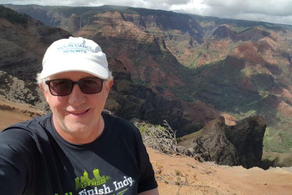 Scott at Waimea Canyon in Kauai