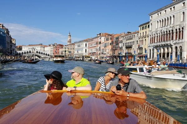 touring on Grand Canal in Venice